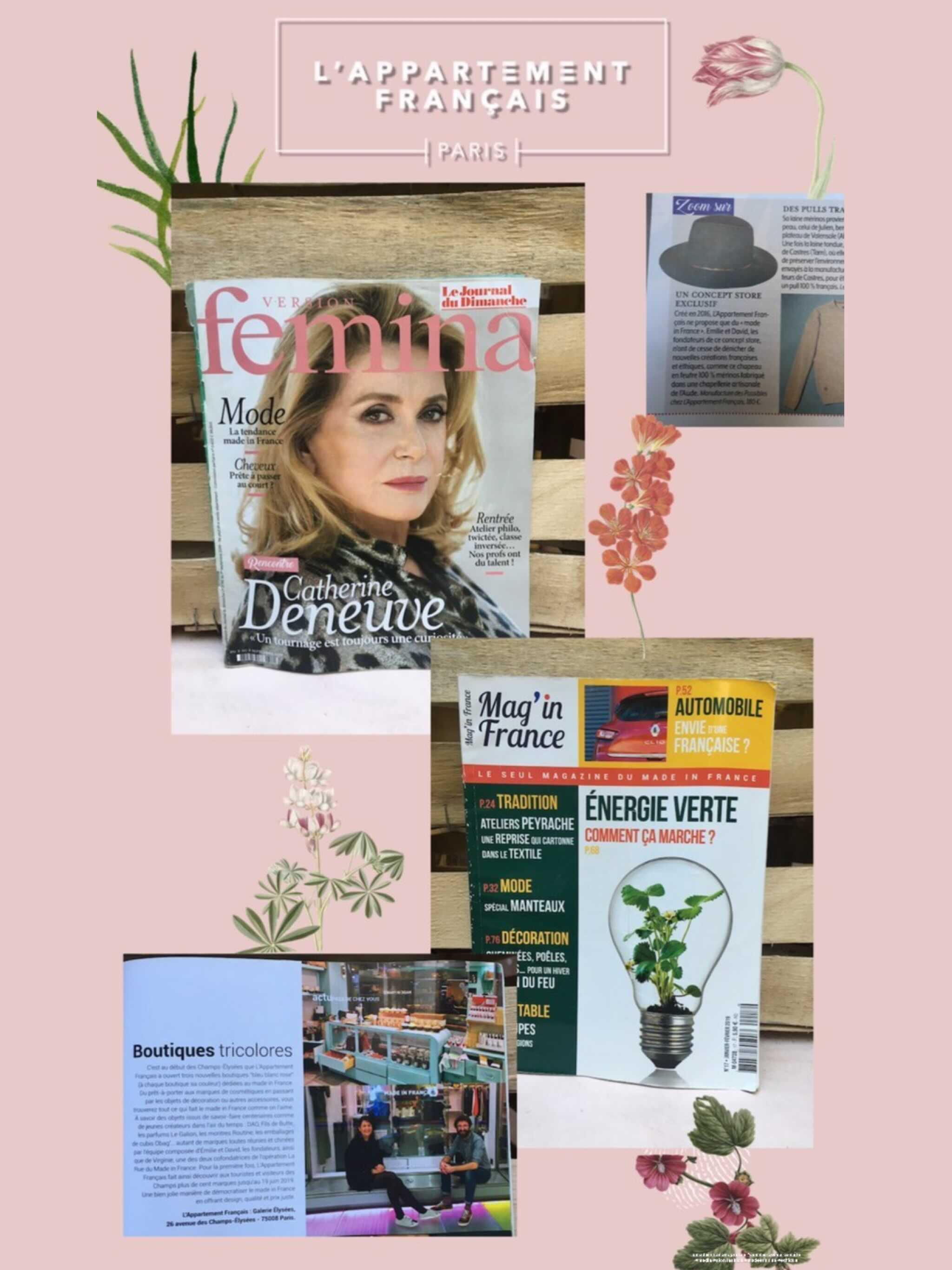 L'Appartement Français dans le magazine Version Fémina et Mag'in Fracne