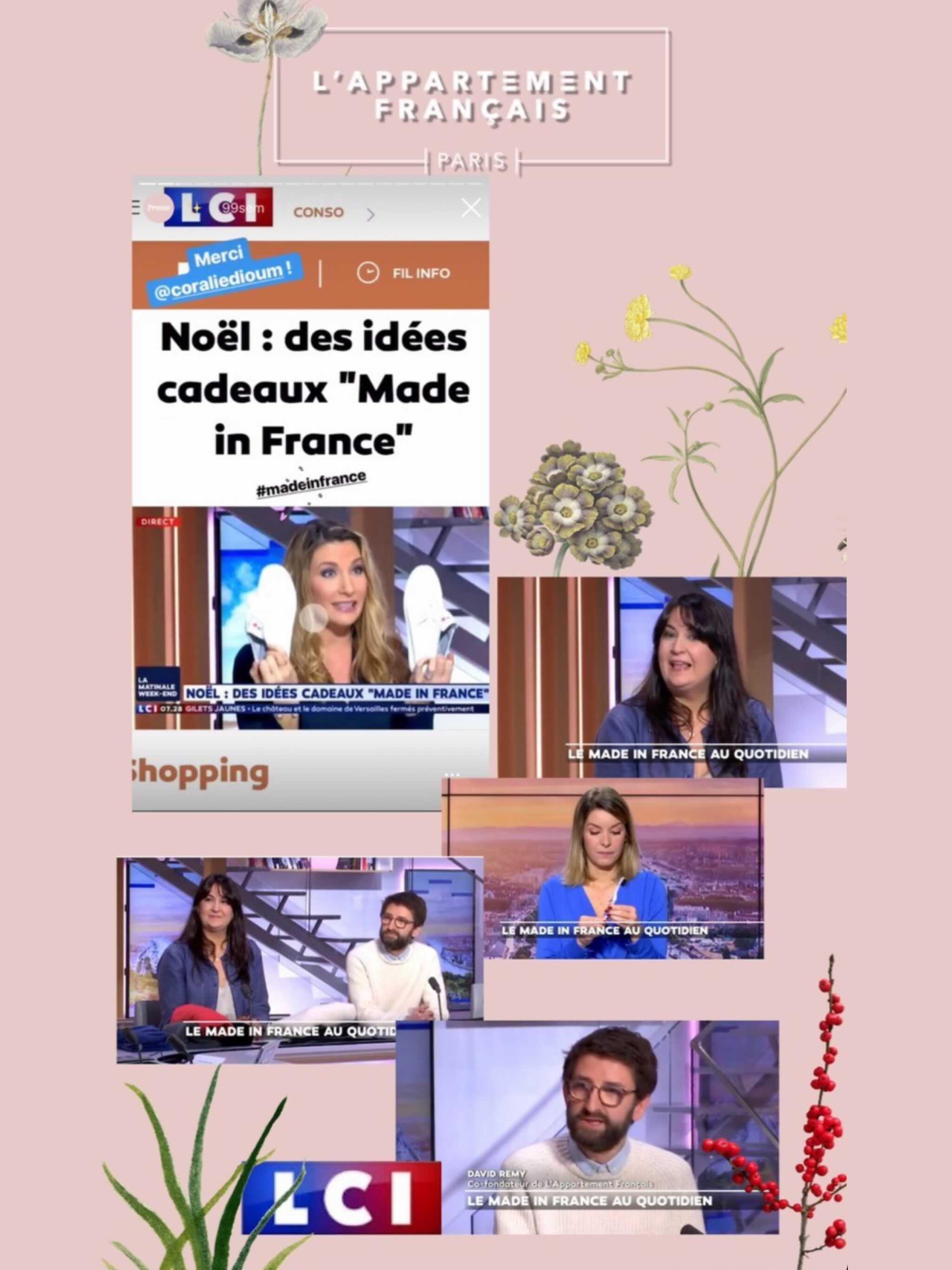chronique sur LCI avec les cofondateurs de L'Appartement Français et Coralie Dioum