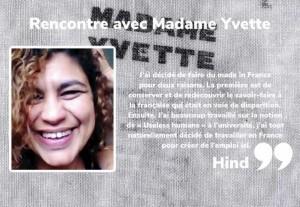 Rencontre avec Madame Yvette !